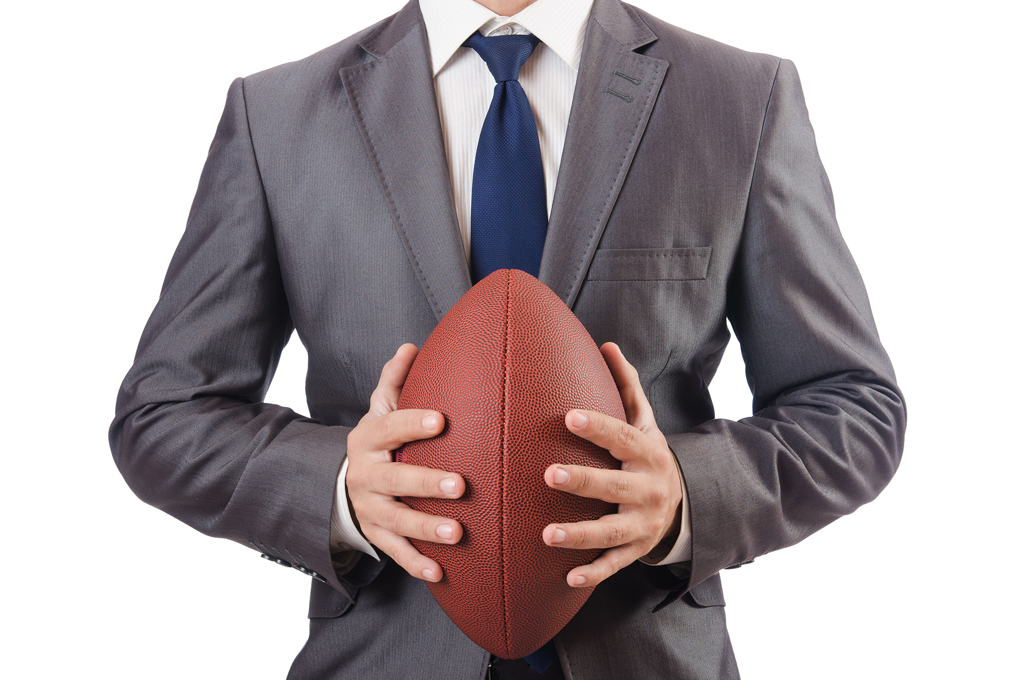 Sales Executive with Football